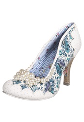 Irregular Choice Pearly Girly Classic Heels Silver White