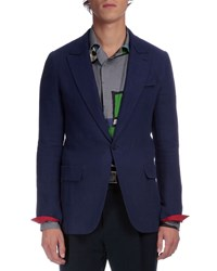 Berluti Contrast Cuff Two Button Jacket Blue Size 52