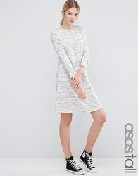 Asos Tall Casual Swing Sweat Dress In Space Dye Grey