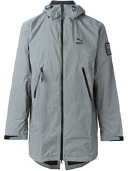 Puma Hooded Zipped Parka Grey