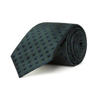 Chester Barrie Patterned Tie Navy