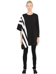 Y 3 Striped Cotton Jersey Long T Shirt