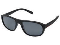 Prada Linea Rossa 0Ps 01Rs Grey Rubber Light Grey Mirror Black Fashion Sunglasses