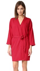 Calvin Klein Underwear Harmony Quilted Robe Regal Red