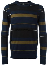 Paul Smith Ps By Striped Jumper Blue