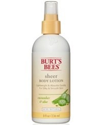 Burt's Bees Cucumber And Aloe Sheer Body Lotion