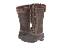 The North Face Shellista Ii Tall Weimaraner Brown Dove Grey Women's Cold Weather Boots