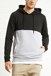 Forever 21 Colorblock Heathered Hoodie