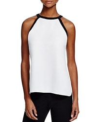 T Tahari Izzy Two Tone Tank Antique Black