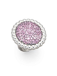 Slane Pave Pink Sapphire And Sterling Silver Ring