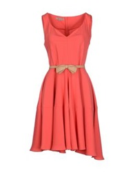 Betty Blue Short Dresses Coral
