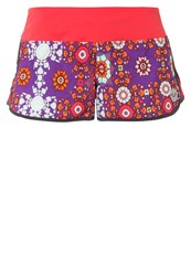 Roxy Sports Shorts Psychedelic Dream Combo Tomato Pink