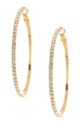 Stella Ruby Crystal Hoop Earrings Metallic