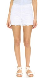 Cupcakes And Cashmere Elle Scalloped Edge Shorts White