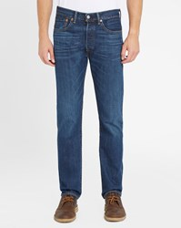 Levi's Blue Stone Washed 501 Pr Straight Jeans