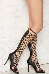 Nasty Gal Lust For Life Dynamite Lace Up Heel