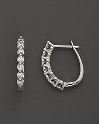 Bloomingdale's Diamond Earrings In 14K White Gold .50 Ct. T.W. No Color
