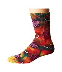 Huf Rabbit Hole Crew Sock Rainbow Crew Cut Socks Shoes Multi