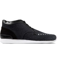 Veja Dark Black Memory Flannel Shoes