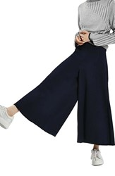 Topshop Women's Palazzo Trousers Navy Blue