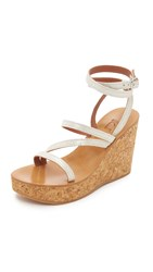 K. Jacques Zelos Wedge Sandals Broke Champagne