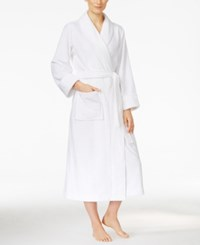 Charter Club Super Soft Shawl Collar Long Robe Only At Macy's Bright White