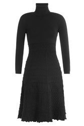 Dsquared2 Textured Knit Turtleneck Dress Black