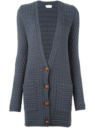 See By Chloe Circle Knit Cardigan Grey