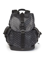 Givenchy Obsedia Cross Print Leather Backpack Black White