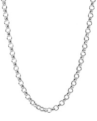 Jet Set Candy Rolo Chain Necklace 30 Silver