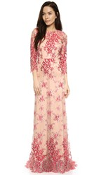 Alexis Akira Lace Gown Red Lace