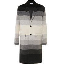 J.W.Anderson Degrade Striped Wool Coat Gray
