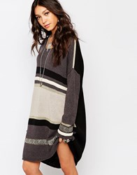 One Teaspoon Marseille Knitted Dress Grey