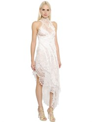 Ermanno Scervino Asymmetrical Silk Blend Lace Dress