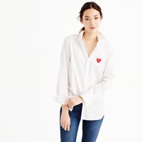 J.Crew Play Comme Des Garcons Red Heart Button Down Shirt