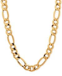 Macy's Men's Figaro Chain Necklace In 10K Gold Yellow Gold