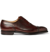 George Cleverley Adam Scotch Grain Leather Oxford Brogues Brown