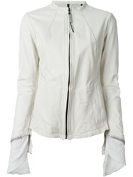 Isaac Sellam Experience Zip Jacket White