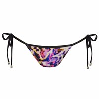Look Z Swimwear Pink Leopard Bow Bandeau Bikini Bottom Pink Purple
