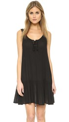 Minkpink Island Bliss Lace Up Dress Black