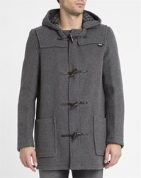 Gloverall Grey Mid Length Duffle Coat