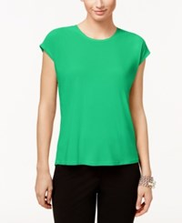 Cece By Cynthia Steffe Short Sleeve High Low Top Watercryst