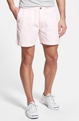 Vintage Men's 1946 'Snappers' Washed Elastic Waistband Shorts Pink