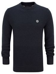 Henri Lloyd Harwell Fitted Crew Neck Knit Navy
