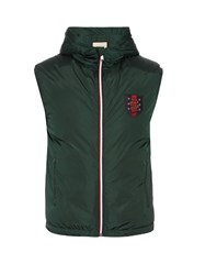 Gucci Hooded Down Gilet Green