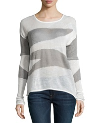 Dex Two Tone Knit Sweater Gray Mix