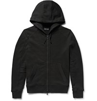 Belstaff Fleming Loopback Cotton Jersey Zip Up Hoodie Black