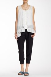 Johnny Was Woven Zip Cuff Pant Black