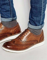 Dune Derby Shoes In Tan Leather Tan