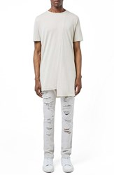 Topman Men's Aaa Collection Slashed Skinny Fit Jeans